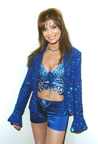 "Paula Abdul backstage posing at  the TV Show ""The Disco Ball"""
