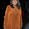 "Gloria Gaynor posing during rehearsals for the TV show ""The Disco Ball"""