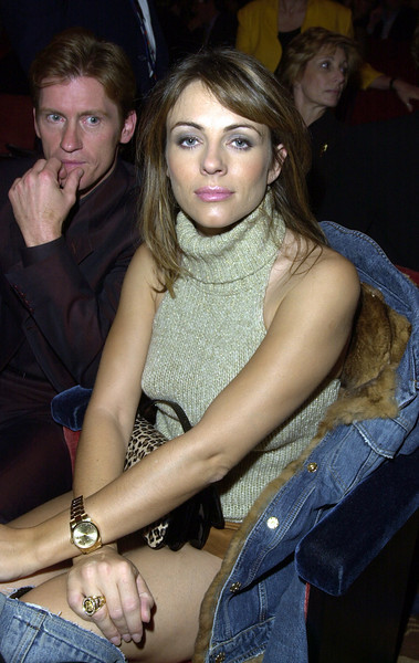 "Liz Hurley & Dennis Leary in the audience at  ""Come Together - A Night of John Lennon"""