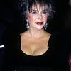 Elizabeth Taylor attending a Hollywood event