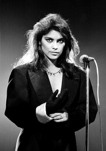 "Vanity known as Denise Matthews performs with the group Vanity 6 on the TV Show ""Solid Gold""."