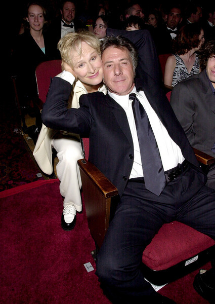 Glenn Close & Dustin Hoffman attending the 7th Annual Blockbuster Entertainment Awards