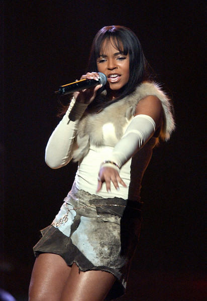 Ashanti performing at the Neil Bogart Memorial Fund Show