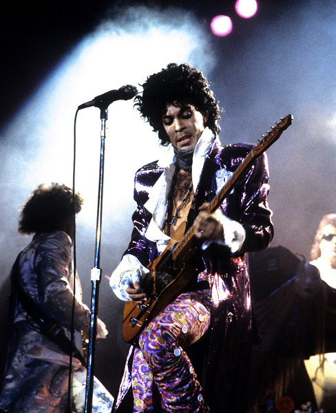 Prince performing at the Forum.