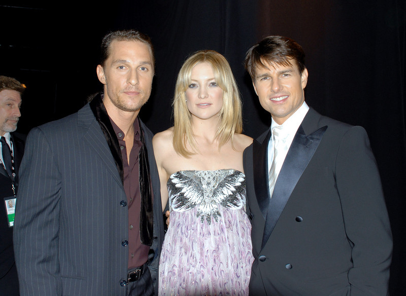 Matthew McConaghey, Kate Hudson & Tom Cruise backstage at the SAG Awards