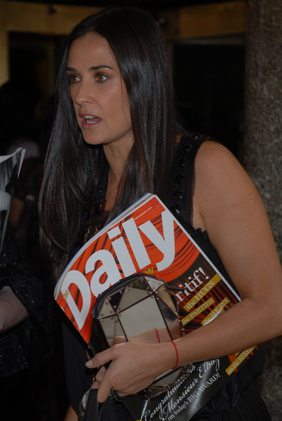 Exclusive Demi Moore leaving leaving the Rainbow Room in NYC after attending FIT Couture Council Luncheon Honoring Alber Elbaz Of Lanvin (Photo Credit: HughE Dillon)
