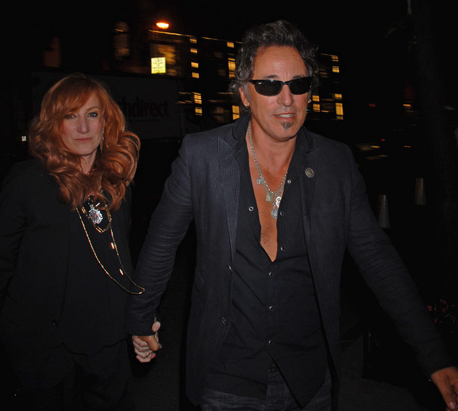 "Exclusive: Bruce Springsteen and Patti Scialfa leave the Tom Ford party Wednesday 9/5/07. Patti's album came out on Sept 4, 2007 ""PLAY IT AS IT LAYS"" and Bruce's new NEW ALBUM 'MAGIC' comes OUT OCT. 2 ON COLUMBIA RECORDS. (Photo Credit: HughE Dillon)"
