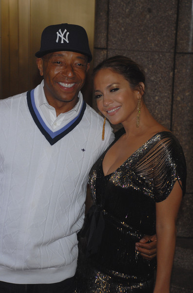 Russell Simmons and Jennifer Lopez on the Red Carpet at Conde Nast Media Group's 4th Annual Fashion Rocks at Radio City on September 6, 2007 in New York City. (Photo Credit: HughE Dillon)