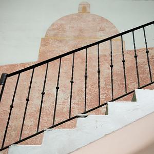 Detail of staircase, Zona Centro, San Miguel de Allende, Guanajuato, Mexico