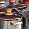 Close-up of cooking pots, San Miguel de Allende, Guanajuato, Mexico