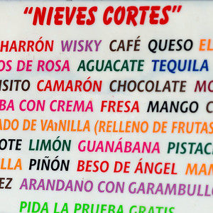 Close-up of colorful text sign, Centro, Dolores Hidalgo, Guanajuato, Mexico