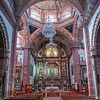 Interiors of Parish church, La Parroquia, San Miguel de Allende, Guanajuato, Mexico