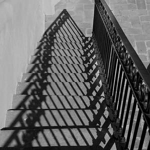 High angle view of staircase, Belmond Casa de Sierra Nevada, San Miguel de Allende, Guanajuato, Mexico