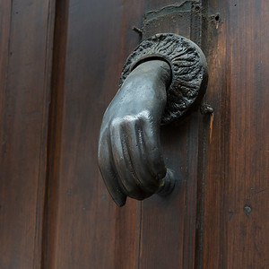 Detail of door knocker, San Miguel de Allende, Guanajuato, Mexico