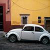 Volkswagon car on road, San Miguel de Allende, Guanajuato, Mexico