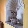 Statue on niche, Belmond Casa de Sierra Nevada hotel, San Miguel de Allende, Guanajuato, Mexico
