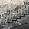 Potted plants along a stairway, Zona Centro, San Miguel de Allende, Guanajuato, Mexico