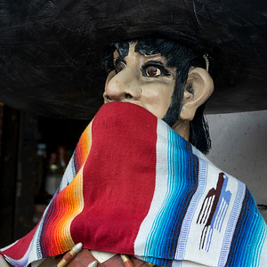 Close-up of a statue with scarf, Zona Centro, San Miguel de Allende, Guanajuato, Mexico