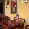 Chairs and tables in cafe, Belmond Casa de Sierra Nevada, San Miguel de Allende, Guanajuato, Mexico