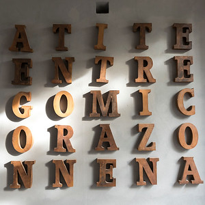Alphabet letters on a wall, San Miguel de Allende, Guanajuato, Mexico