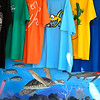 Colorful Souvenir t-shirts for sale, West End, Roatan, Honduras