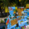 Paintings for sale, West End Village, Roatan, Honduras