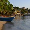 Boats on the beach, West End Village, Roatan, Honduras