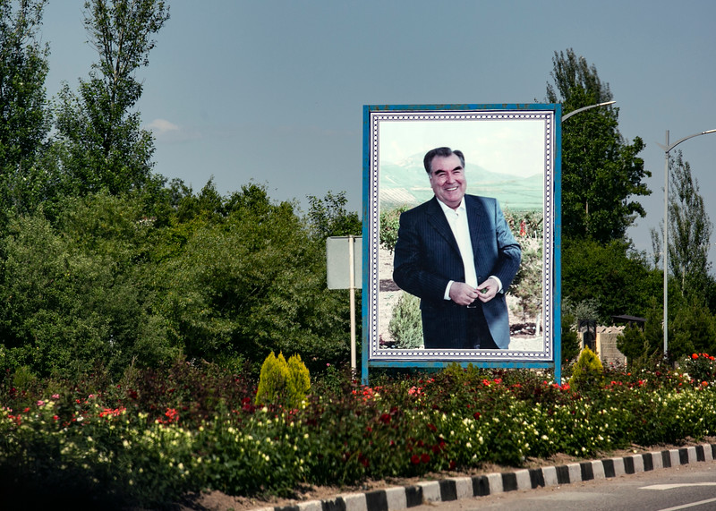Tajik President's image is everywhere