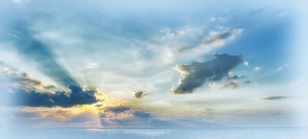 """ETC-3048  """"Sunbeams in Blue"""""""