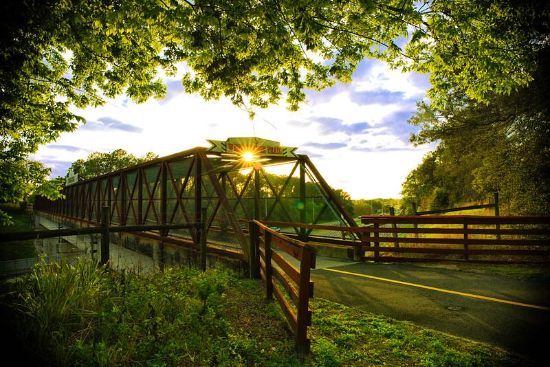 "ETC-3184  ""Sunburst on Trail Bridge"""