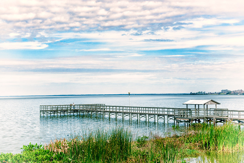 "ETC-3028  ""Fishing Dock on Lake Apopka"""