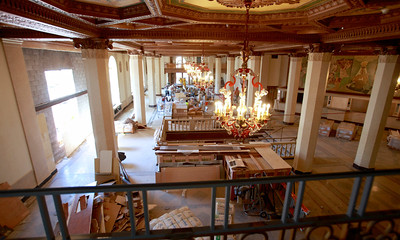 HOTEL SYRACUSE RENOVATION - Lobby view from mezzanine