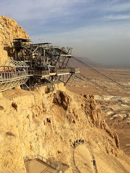 Top of tram at Masada