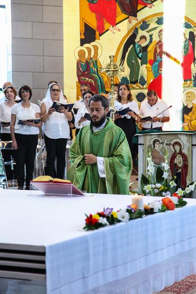 Mass at Domus Galilaeae