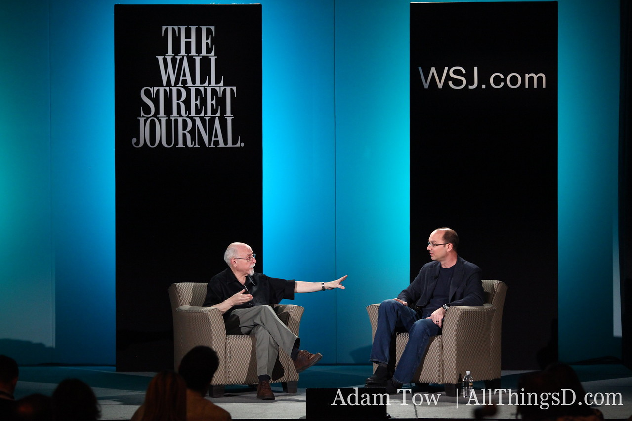 Walt Mossberg and Andy Rubin.