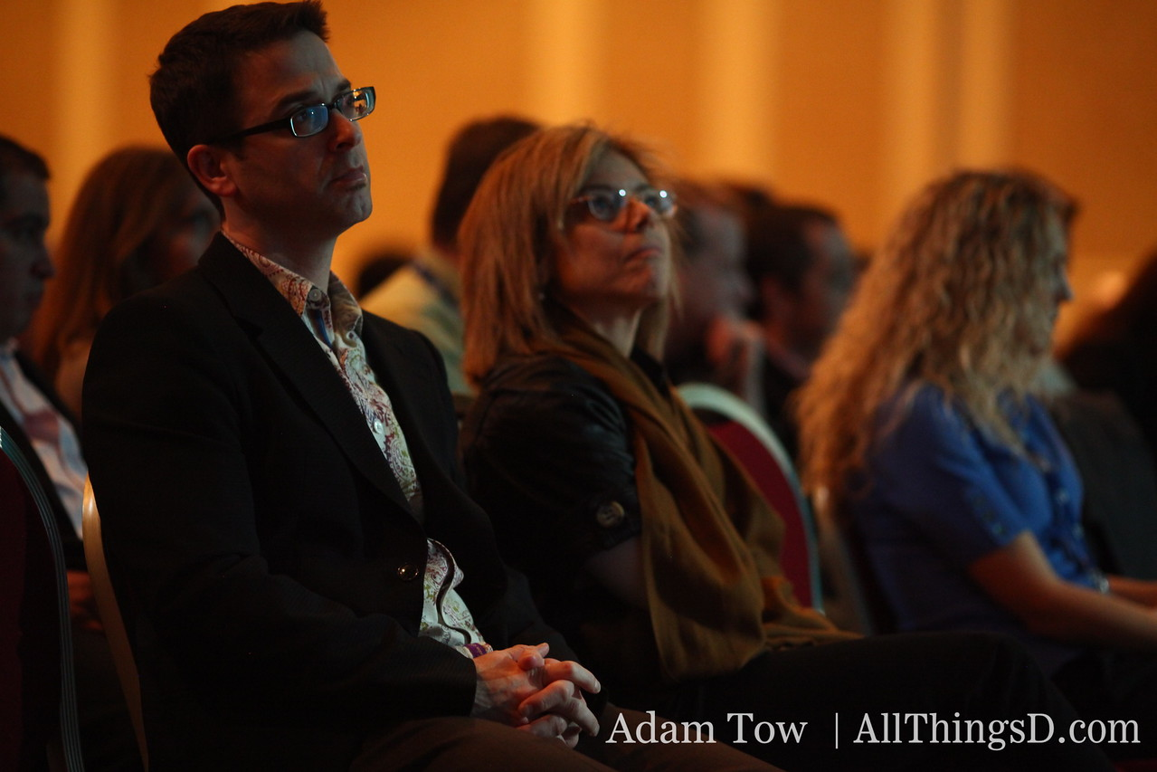 Attendees listen to Google's Andy Rubin during his interview with All Things Digital's Walt Mossberg.