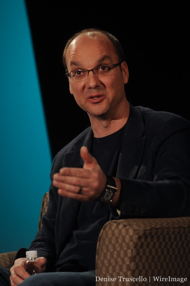Andy Rubin answers a question from the crowd.