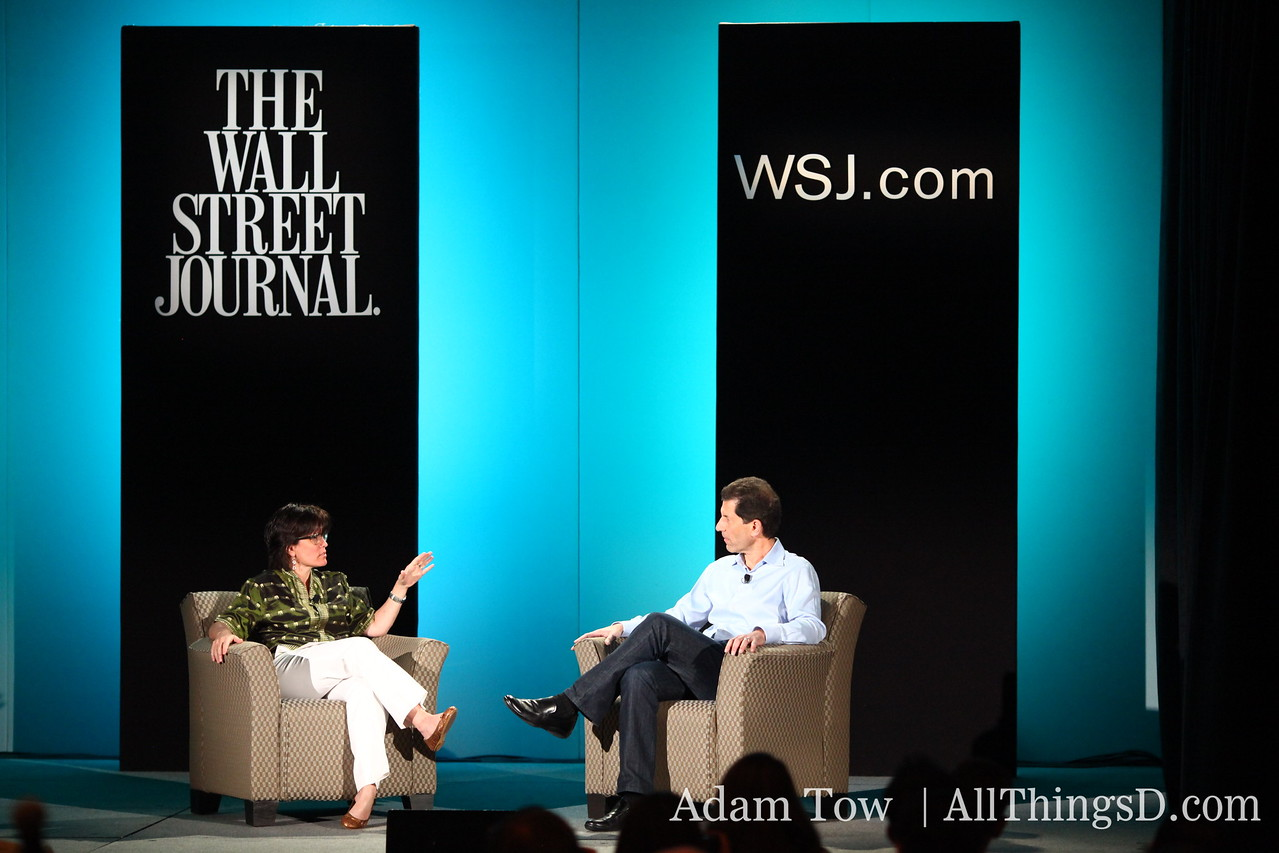 Kara Swisher kicks off the All Things Digital interview with Jon Rubinstein, CEO of Palm.