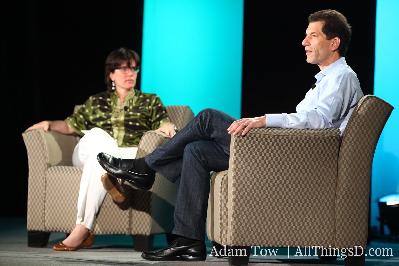Kara Swisher interviews Jon Rubinstein, CEO of Palm at All Things Digital's event in Las Vegas.