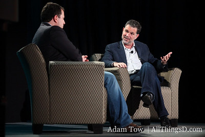 Netflix CEO Reed Hastings, onstage at All Things Digital's CES event in Las Vegas.