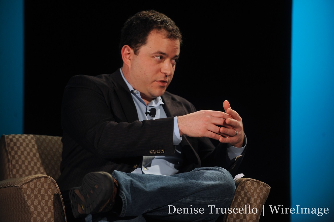 MediaMemo's Peter Kafka, onstage at All Things Digital's interview event in Las Vegas.