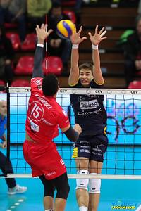 LPR Volley Piacenza 0 - Diatec Trentino 3 4i di Andata Coppa CEV 2016/2017 Piacenza - 1 marzo 2017
