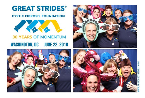 Cystic Fibrosis Foundation Great Strides DC 2018 Photo Booth