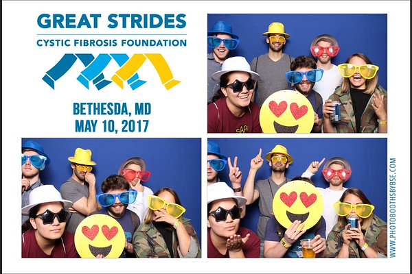 Cystic Fibrosis Foundation Great Strides Bethesda Photo Booth