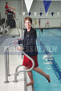 9-23-2013, Mary Pierson, CFO, Capital District YMCA, photographed at the Guilderland YMCA pool
