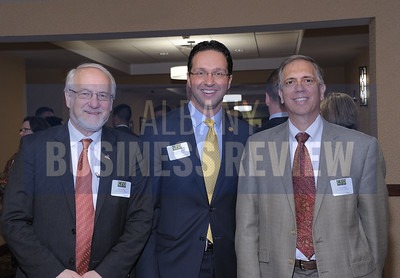 UAlbany attendees, left, Jim Stellar, Mike Christakis and James Dias.