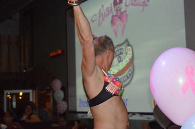 Linda Kerkau - Morning Sun-   CFX's Bras for a Cause raised money  for cancer causes Thursday night as attendees bid on bras designed and modeled by men of the Mt. Pleasant community.