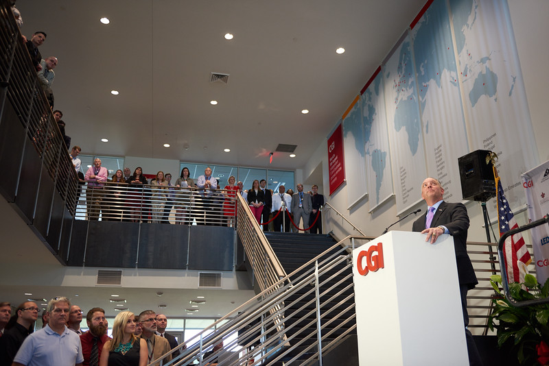 CGI ribbon cutting event. May 2016.