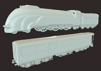 Steam Locomotive - High Poly
