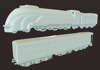 Steam Locomotive - High Poly